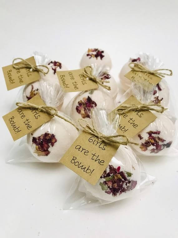 bath bombs baby shower gift bags