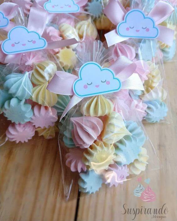 sweets in baby shower gift bag