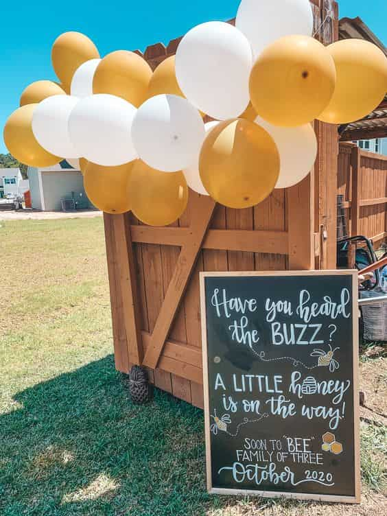 yellow Drive-By Baby Shower theme ideas