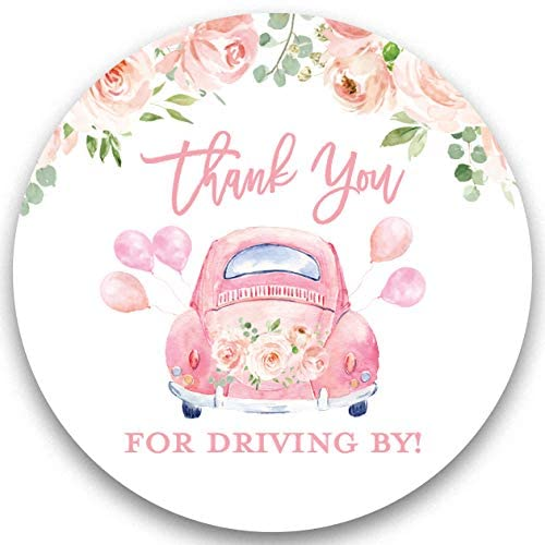 Favour tag for drive by baby shower