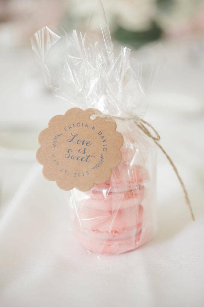 pink Macaron baby shower gift bags