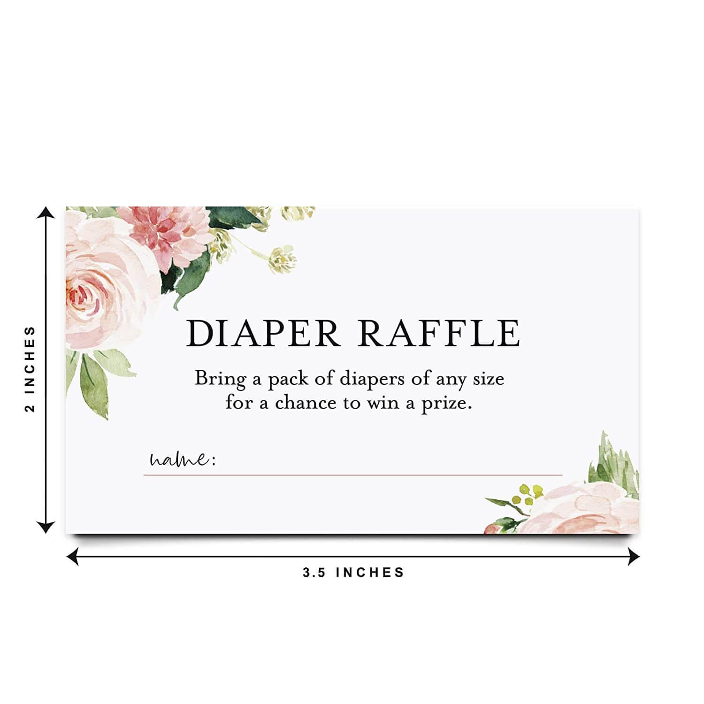 Baby shower diaper raffle printable