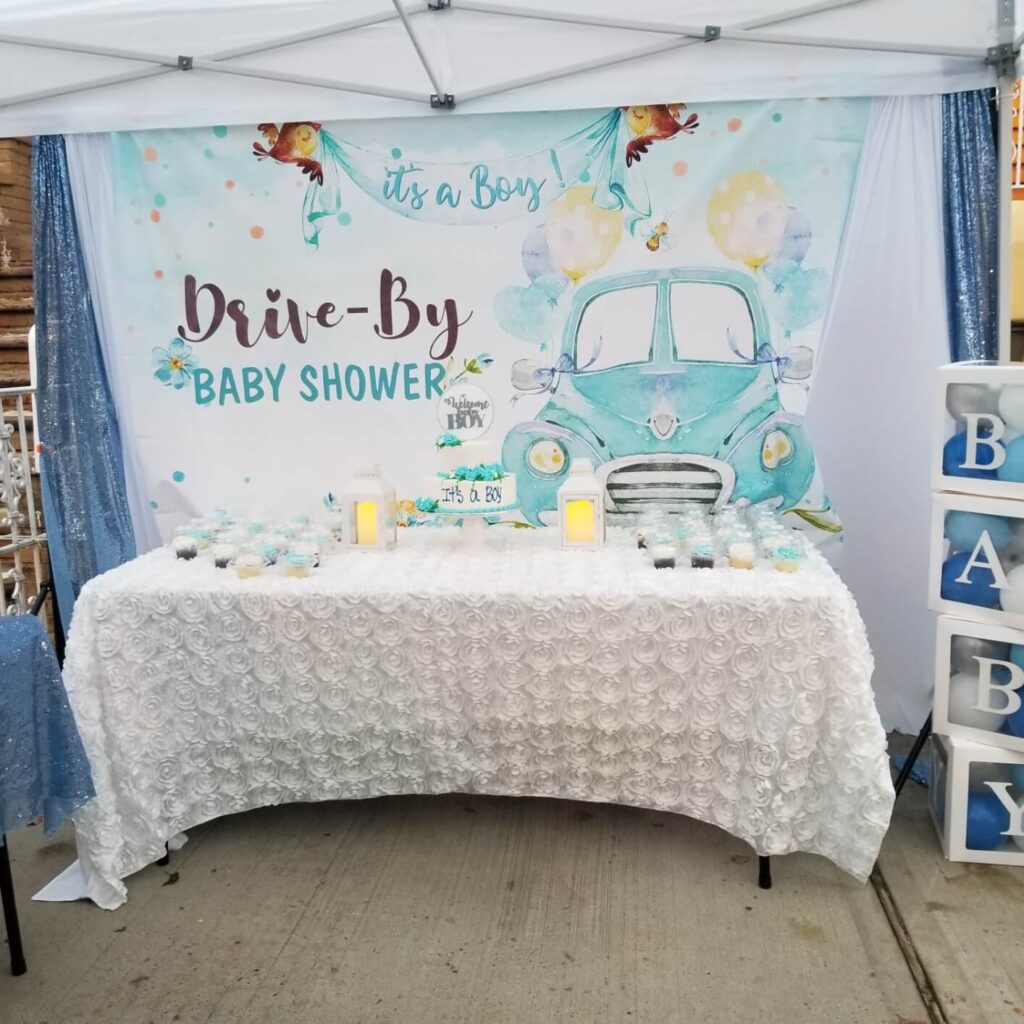 drive-by baby shower backdrop