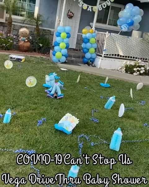 drive-by baby shower decoration for the yard