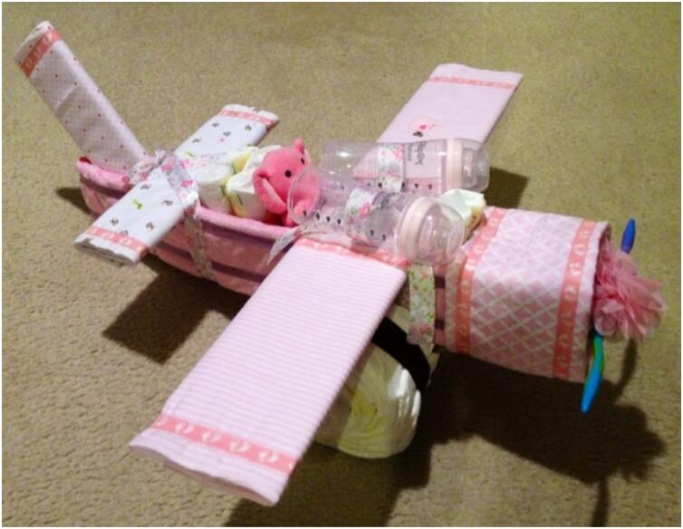 Diaper Airplane Cake
