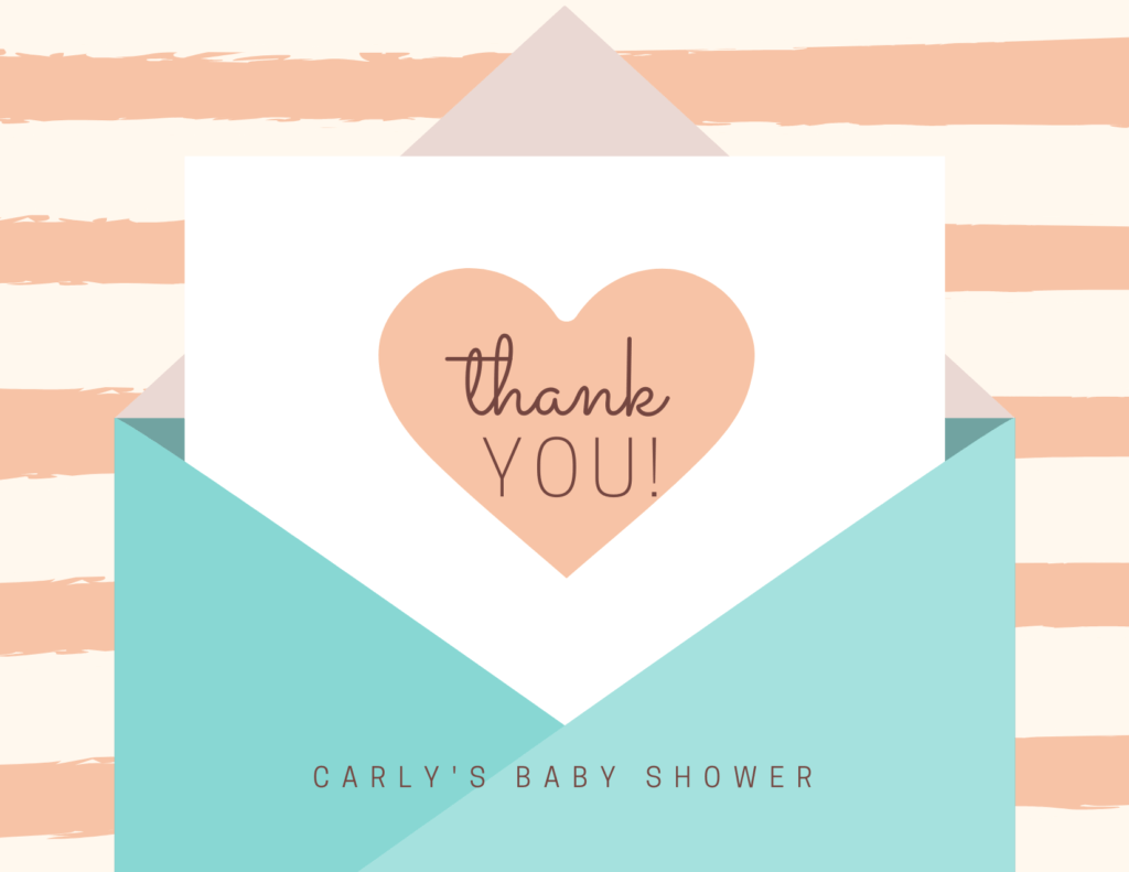Virtual baby shower thank you notes