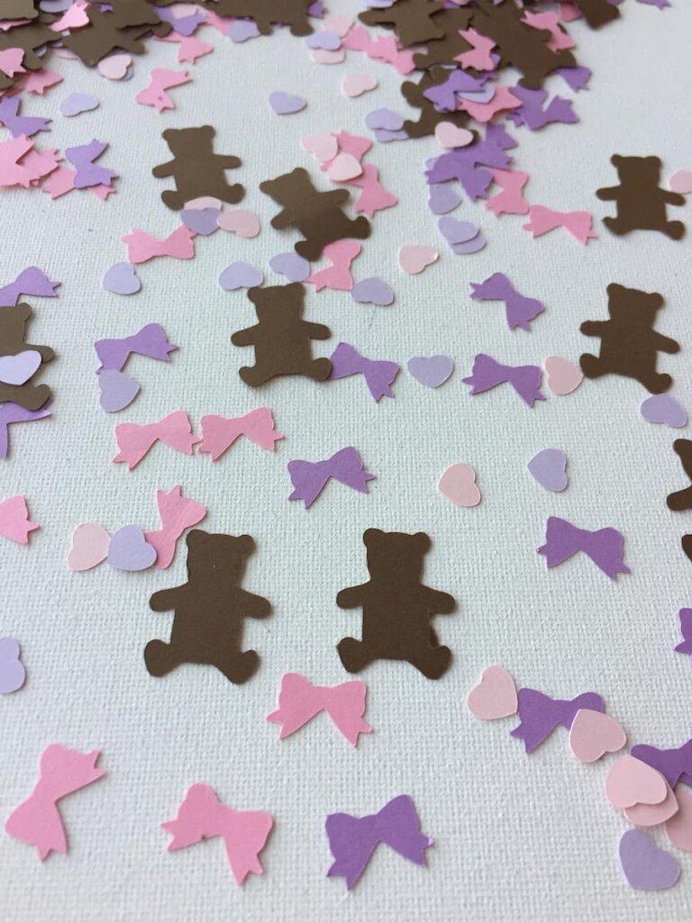 Teddy Bear Baby Shower Confetti  Decor