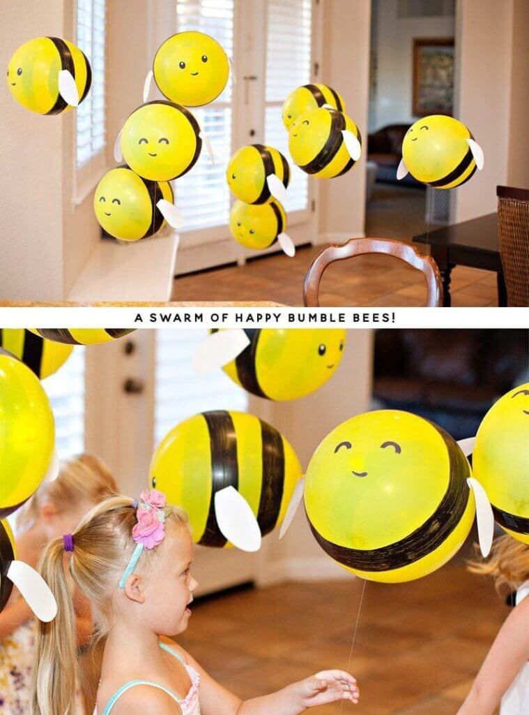 Bee Themed Baby Shower balloons dacoration