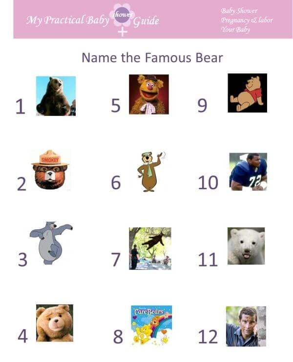 Teddy Bear Themed Baby Shower Games