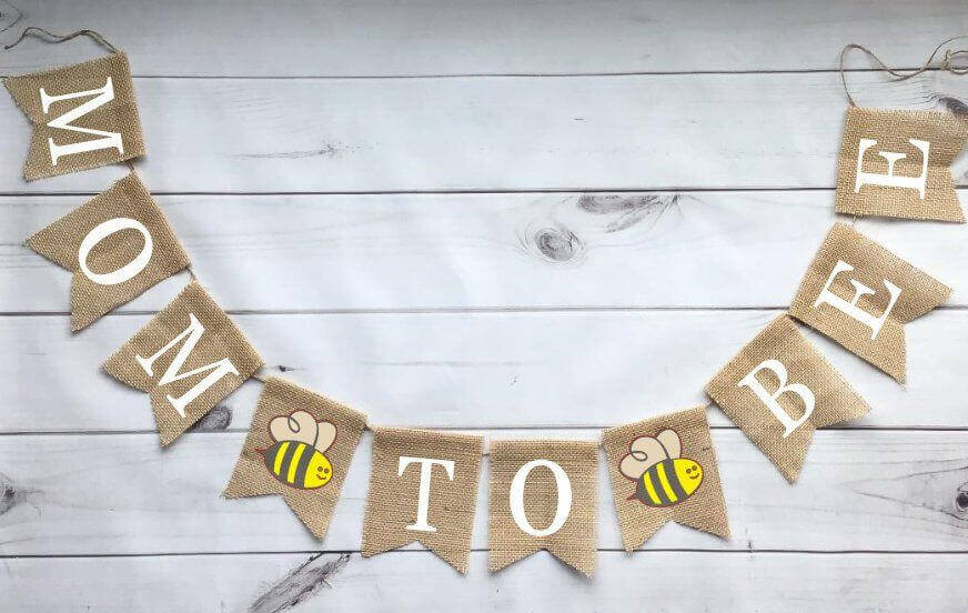 Bee Themed Baby Shower banner