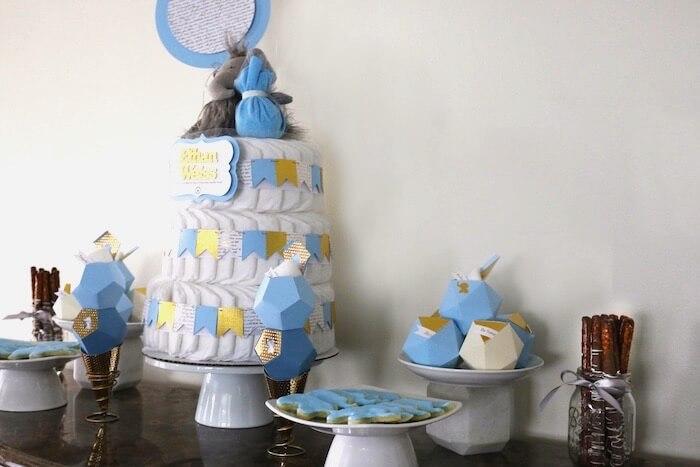 Elephant themed baby shower for boys.