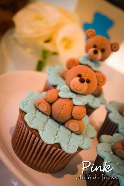 Teddy Bear Themed Baby Shower cupcakes