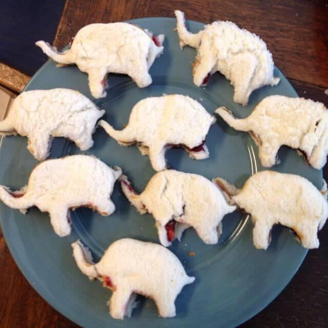 Elephant themed baby shower food ideas.