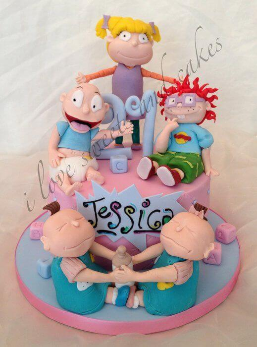 Rugrats baby shower cake ideas
