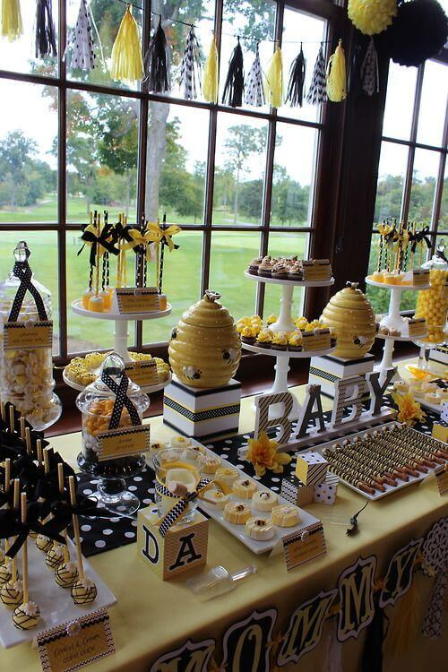 Bee Themed Baby Shower dessert table