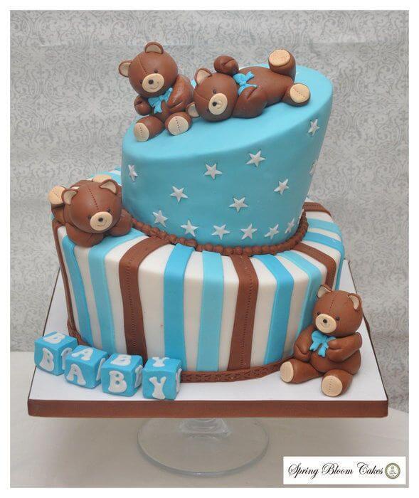 Teddy Bear Themed Baby Shower cake