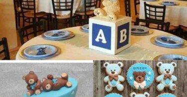 Teddy bear themed baby shower Ideas (Free Printable included)