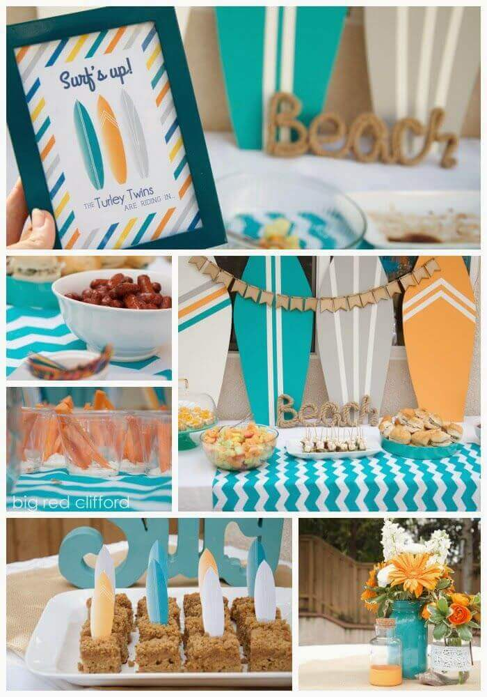 Modern baby shower themes for boys