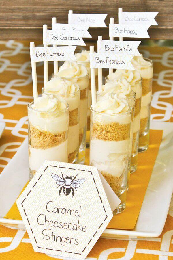 Bee Themed Baby Shower Russian honey cake