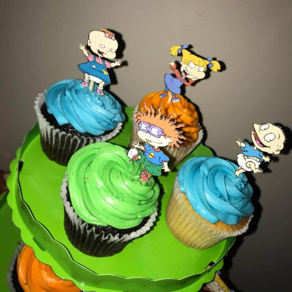 rugrats cupcakes toppers