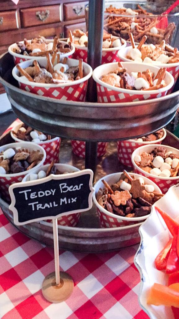 Teddy Bear Themed Baby Shower food