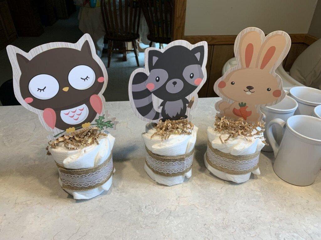 woodland baby shower decor animals cutouts