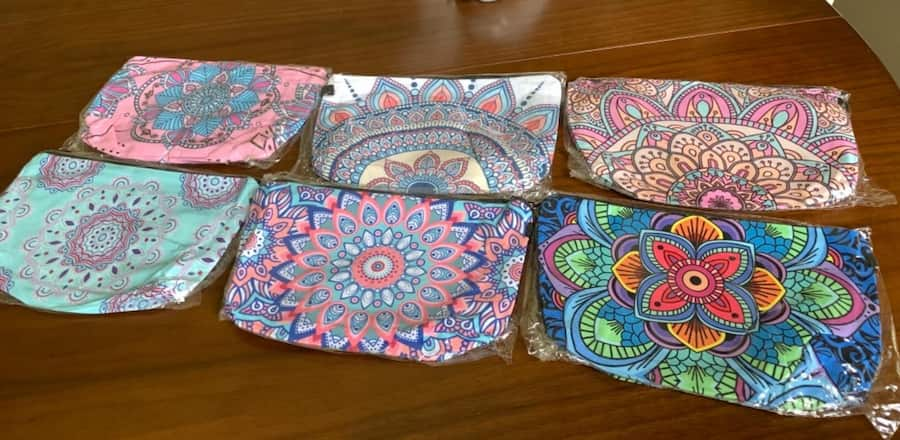 Baby shower hostess Gifts cosmetic bags