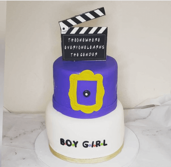 Friends themed baby shower cake