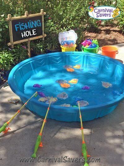 Fishing baby shower games