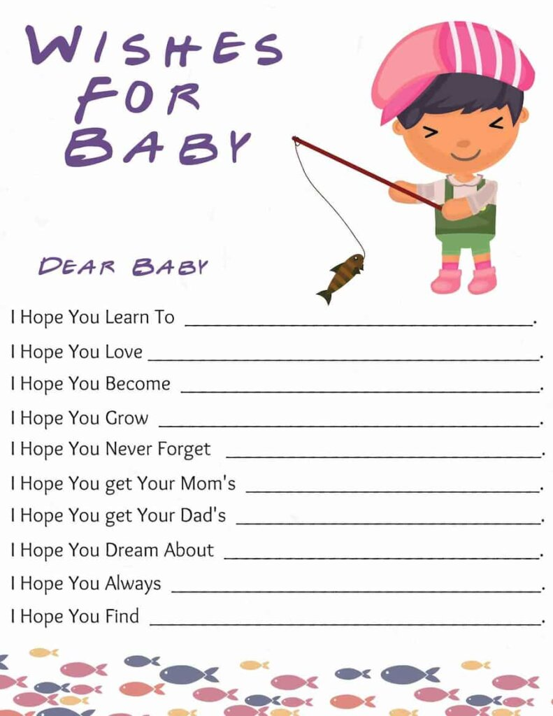 Fishing themed baby shower Wishes for baby free printable.pdf