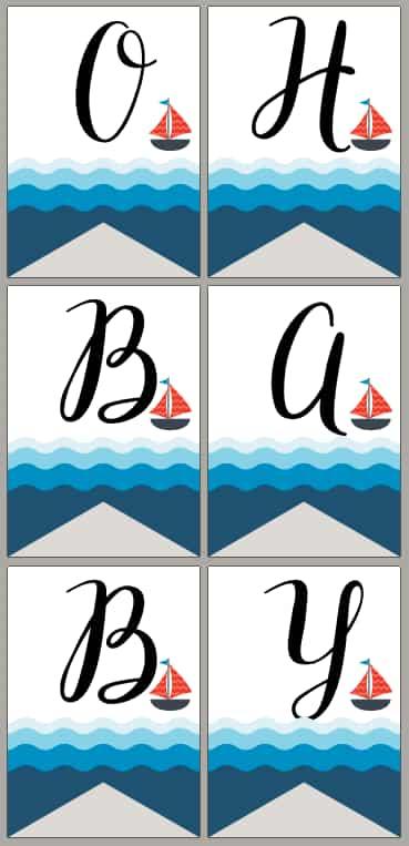Fishing themed baby shower banner printable free pdf