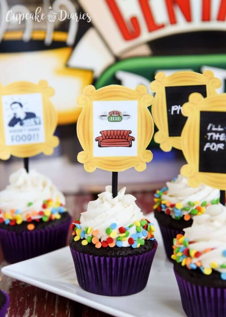 Friends themed baby shower cupcakes