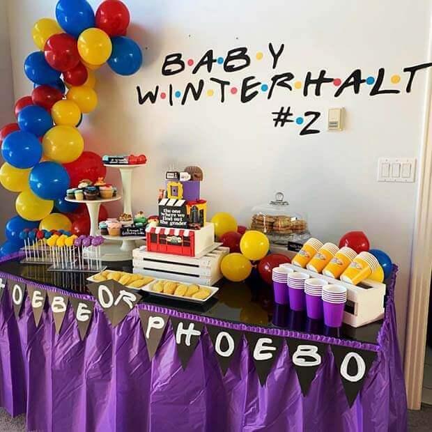 Friends Themed gender neutral baby shower