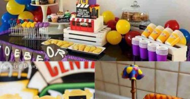 Friends themed baby shower Ideas (Free Printable included)