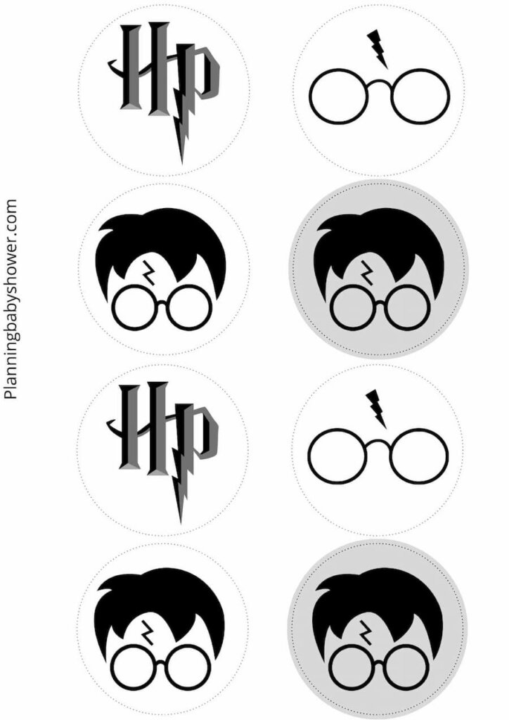 Harry potter themed baby shower cake toppers free printable
