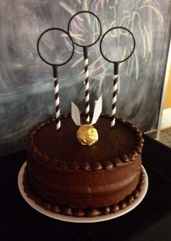 Harry Potter themed baby shower cake
