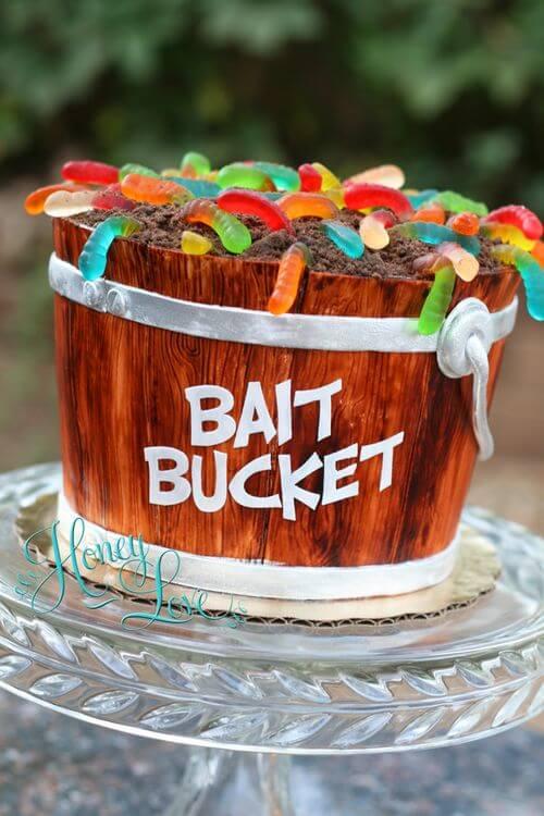Fishing baby shower cake