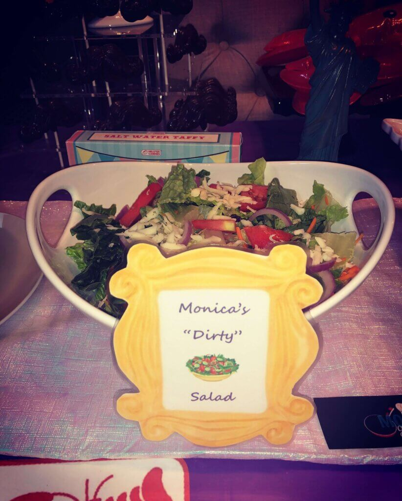 Friends themed baby shower food