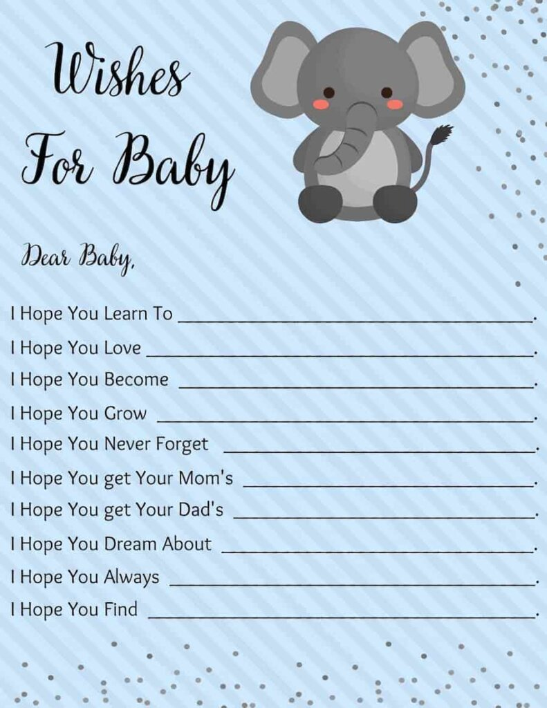 wishes for baby woodland themed baby shower free printable pdf
