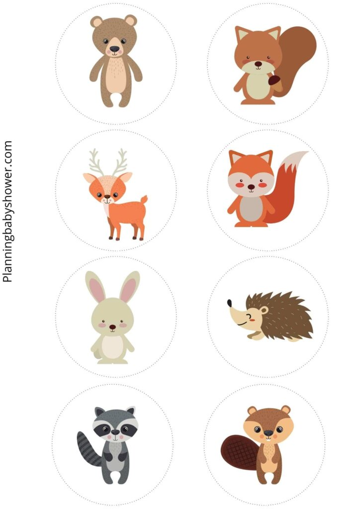 woodland themed baby shower cupcake toppers printables free