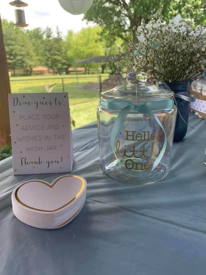 baby shower guest book ideas Wishes jar