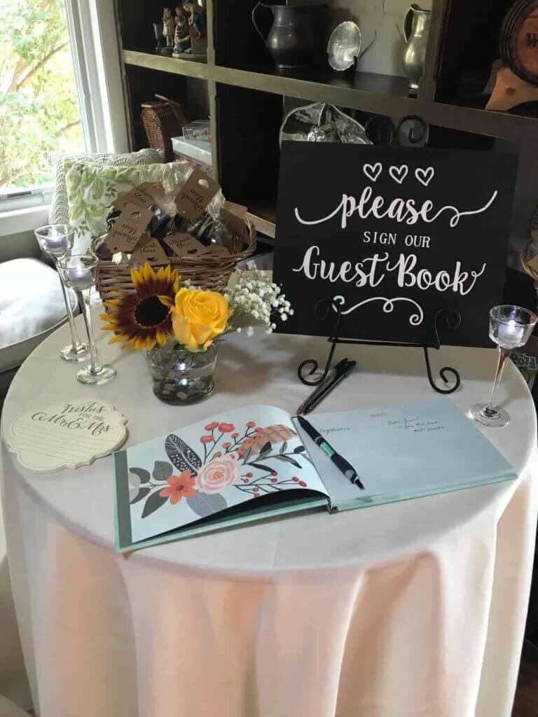 baby shower guest book sign