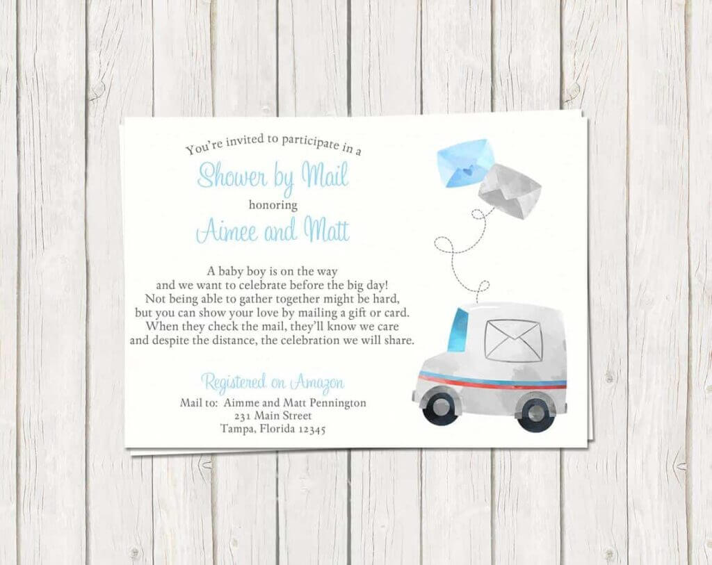 baby shpwer by mail invitation