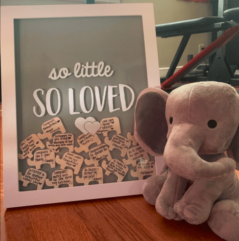Fun Elephant baby shower Guest Book