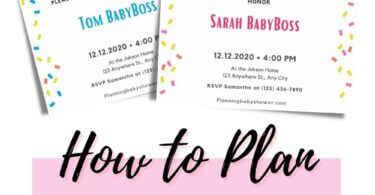How To Throw a Baby Sprinkle Shower planningbabyshower.com